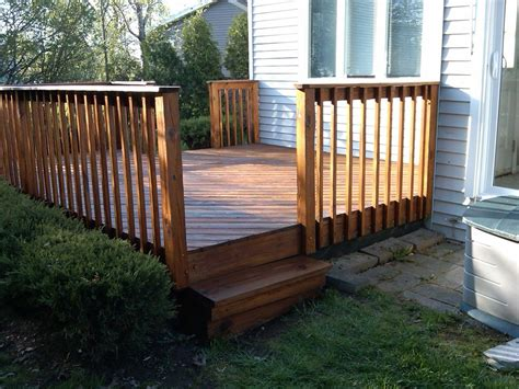 A simple deck for when your house is at ground level