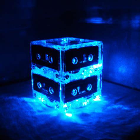 cassette centerpiece set of 10 blue mixtape cassette lighted wedding table centerpieces 80s retro rock n