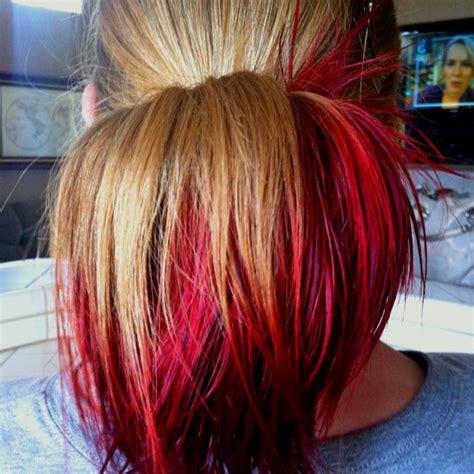 kool aid hair dye for dark hair kool aid hair dye 3 packets of kool aid dissolved in a