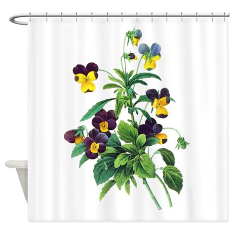 botanical shower curtains pierre joseph redoute botanical shower curtain by
