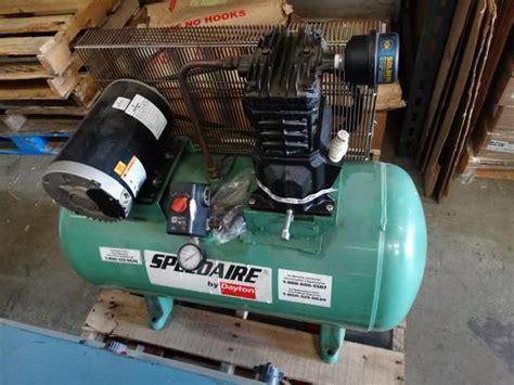 used speedaire 4b237c 30 gallon air compressor