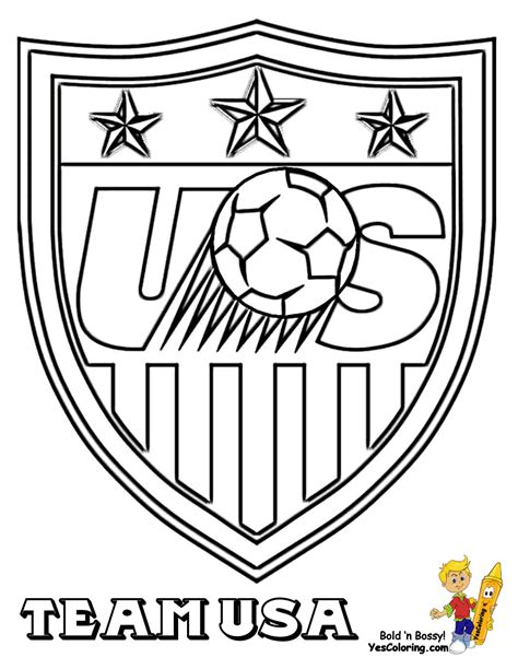 Soccer Coloring Sheets Fifa Usa Mls West Free Soccer Color Pages