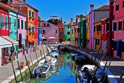 living on a boat in venice landscape venice italy burano island houses canal boat