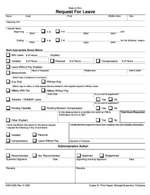 leave request form leave request form fill printable fillable