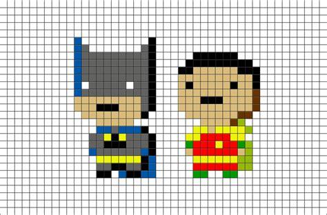 batman  robin pixel art brik