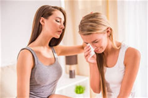 how to comfort someone crying girls consoling crying friend at home royalty free stock