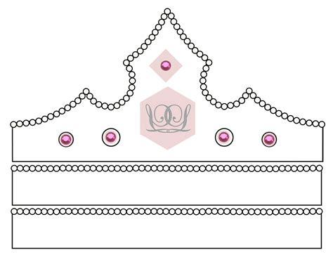 princess cut out template search results for princess crown cut out template