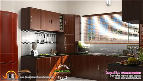 kitchen interior dining area design kerala home design