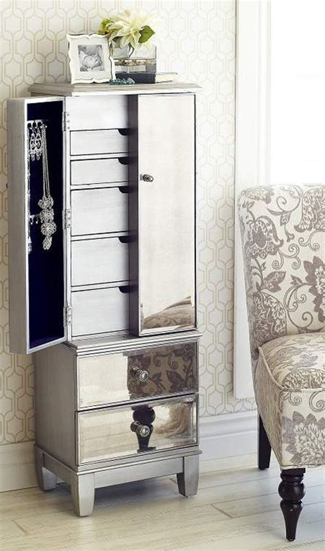 mirrored jewlery armoire mirrored silver jewelry armoire mom nu est jr and so in