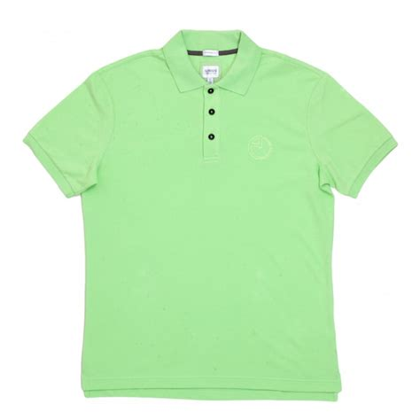 Tshirt Green Light armani polo shirt in light green with embroidered logo