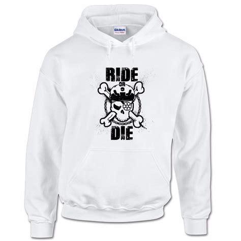 Hoodie Or Die Nazwa Cloth ride or die mtb skull bones mountain bike trails bmx