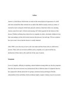 Autism Essay Topics autism essay