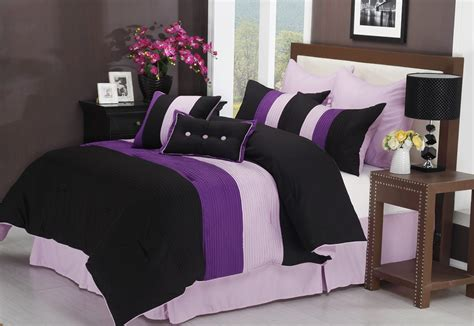 purple and black comforters purple black and white bedding sets drama uplifted