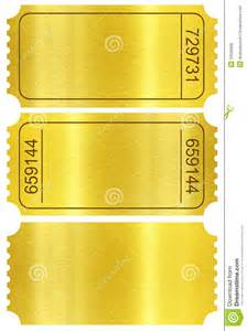 ticket sles template ticket set golden ticket stubs isolated on white royalty
