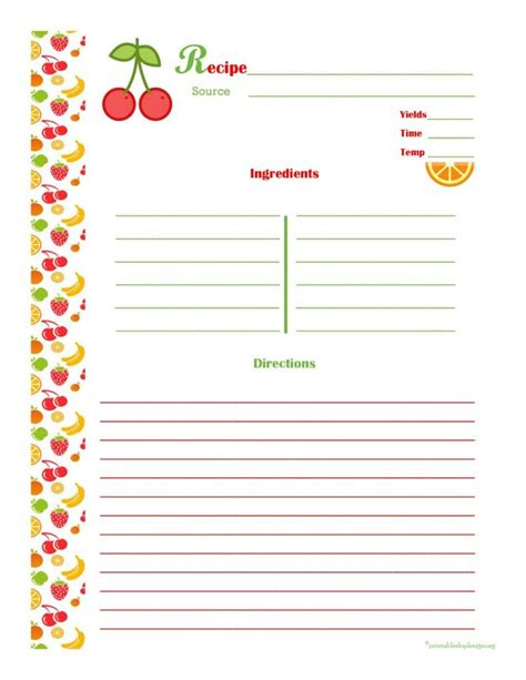 25 Unique Cookbook Template Ideas On Pinterest Cookbook Ideas Family Recipe Book And Recipe Free Cookbook Template