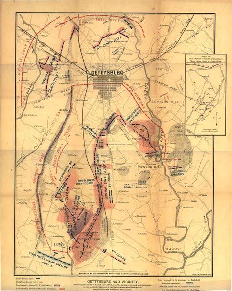 gettysburg map gettysburg battlefield map gettysburg mappery