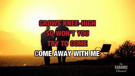 Come Away With Me To A Place Lyrics Come Away With Me In The Style Of Quot Norah Jones Quot With