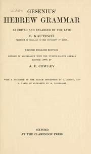 gesenius hebrew grammar classic reprint books gesenius hebrew grammar 1910 edition open library