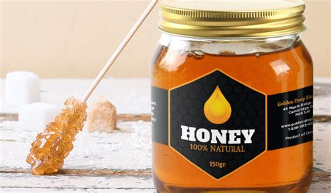 Custom Honey Labels And Jar Labels Stickeryou Products Stickeryou Honey Jar Labels Template