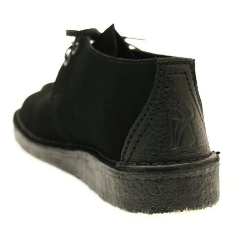 clarks originals black suede desert buy clarks originals mens black suede desert trek at hurleys