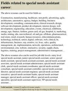 top 8 special needs assistant resume samples