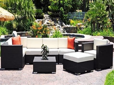 outdoor modern patio furniture luxury caluco dijon lounge cushion patio wicker set