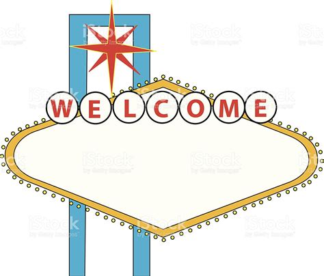 Credit Template Vegas welcome to las vegas vector sign stock vector more