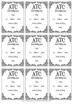 Free Artist Trading Cards Template by Pin By Santos On Atc Artist Trading Cards