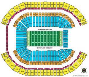 of arizona stadium map arizona cardinals stadium seating az cardinals tickets