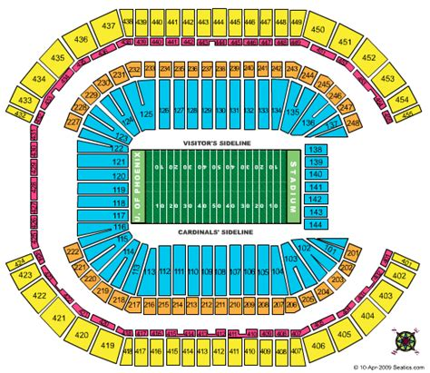 arizona cardinals seating chart prices cheap of stadium tickets