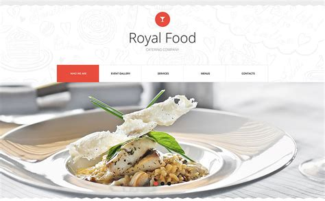 templates for catering website catering website template