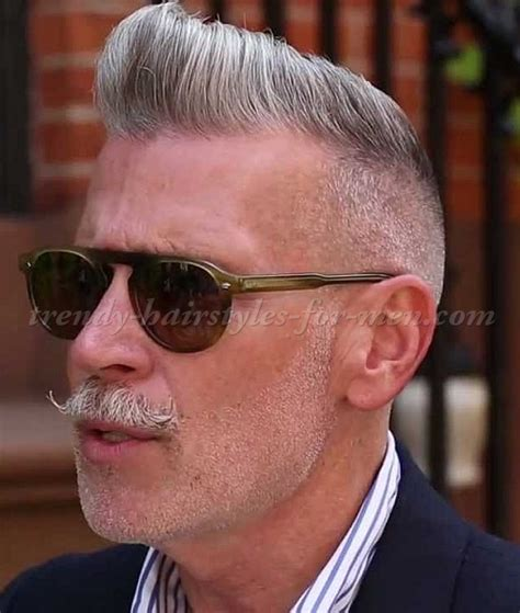 over 50 male gray hair hairstyles for men over 50 nick wooster pompadour
