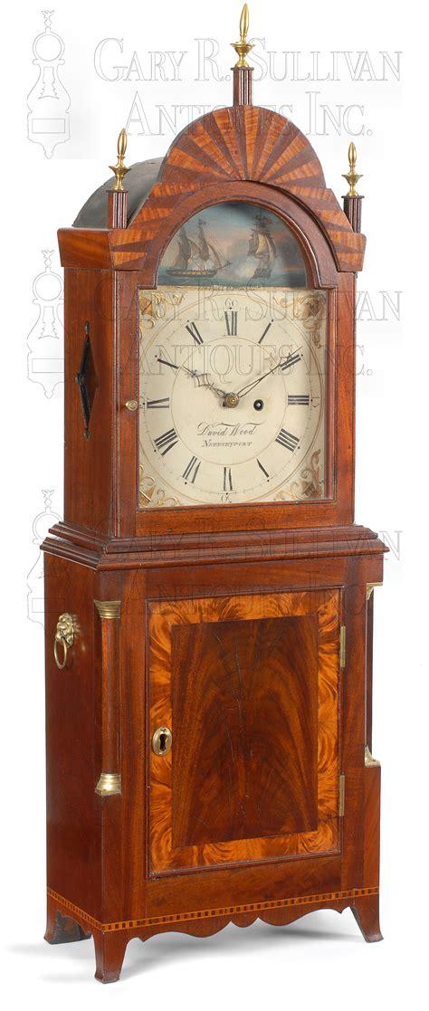 Antique Shelf Clock by David Wood Shelf Clock Newburyport Mass Clocks 09056