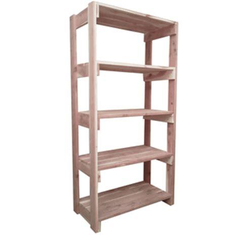 5 Shelf Stand Alone Cedar Shelves Closet Organization
