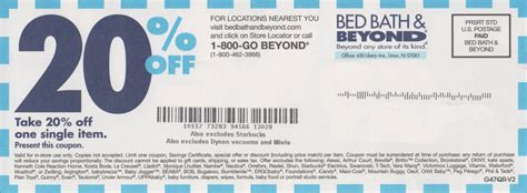 coupons for bed bath and beyond in store get 20 off bed bath and beyond coupon and printable coupon