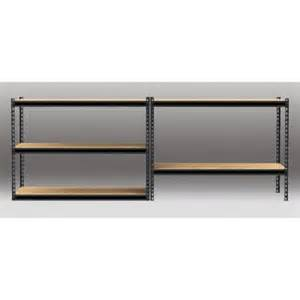 gorilla garage shelving gorilla rack 48 quot x 24 quot x 72 quot 5 shelf z beam unit black