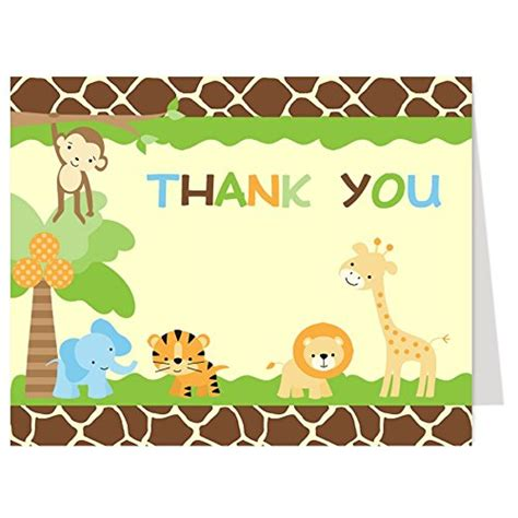 safari thank you card template safari baby shower ideas baby ideas