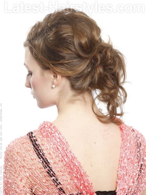 contemporary updos curly hairstyles for prom