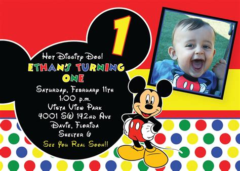 mickey mouse birthday invites mickey mouse birthday invites