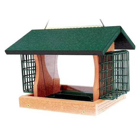 woodlink going green large premier feeder with suet cages