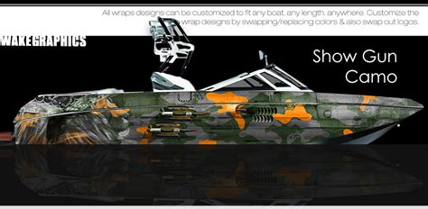 south hill design wraps the show gun camo boat wraps