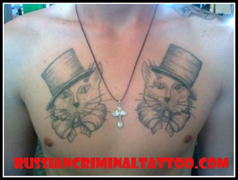 cat tattoo meaning russian russian cat tattoo images