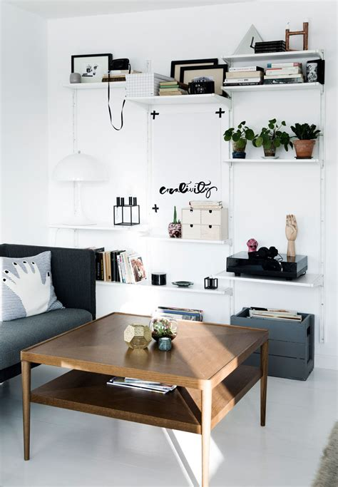 Vintage Living Room Shelves Vintage Meets Modern In A Apartment Decordots