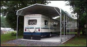 Large Car Ports by Large Motorhome Steel Carport Rv Carports Carport Empire