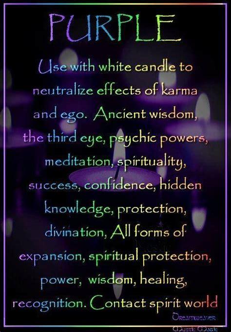 purple color meaning purple candle magick a la luz de una vela pinterest