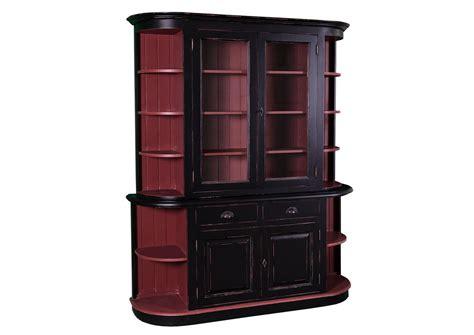 acheter buffet cuisine acheter votre buffet de cuisine en pin massif avec portes vitr 233 es chez simeuble