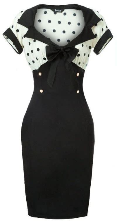 Black White Dot Dress W8179uzi D black and white polka dot wiggle dress