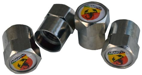 abarth tire valve stem caps 4 vc ab