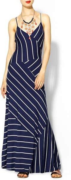 Blue Army Maxi Dress navy blue striped maxi dress best dressed