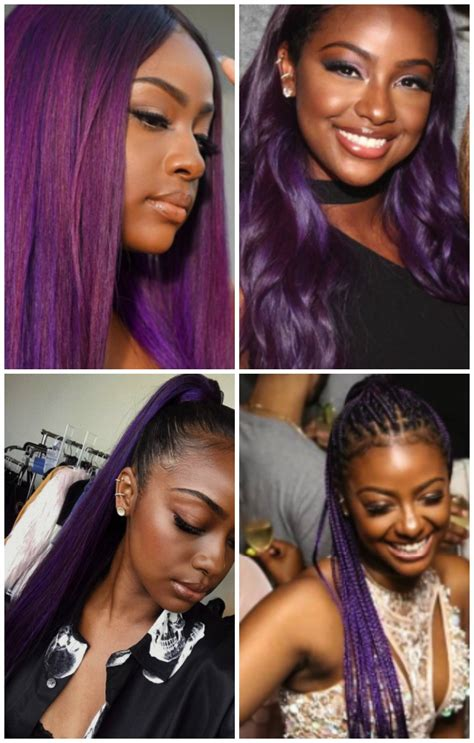 do any playboy models have burgundy hair top 13 cute purple hairstyles for black girls this season